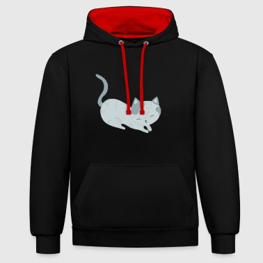 Kitten - Contrast Colour Hoodie
