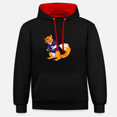 Furry Gaming Furry - Contrast Colour Hoodie