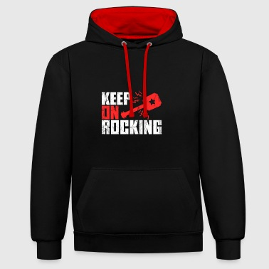 Guitarist Guitar guitarist guitarist guitarist shirt - Contrast Colour Hoodie