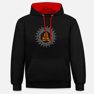 Boy Scouts Campfire - Camping Camper Boy Scout Gift - Contrast Colour Hoodie