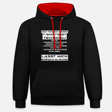 Techno Techno DJ Music Club Rave - Contrast Colour Hoodie