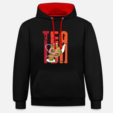 Tea Rainbow tea - Contrast Colour Hoodie