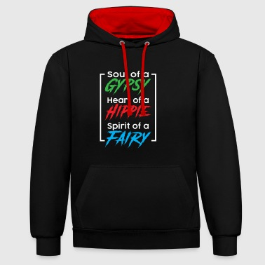 SOUL OF A GYPSY - HIPPIE ALTERNATIVE SHIRT - Kontrast-Hoodie