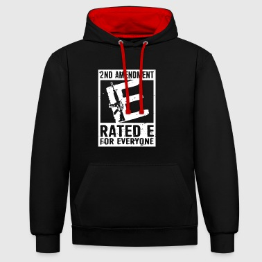 2nd Amendment Ratede Pour Tout le monde Shirt - Sweat-shirt contraste