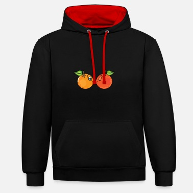 Fruit Deux doux oranges de fruits - Sweat-shirt contraste