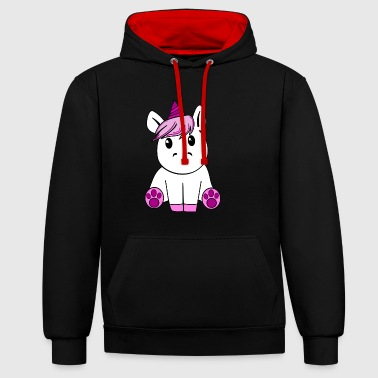 licorne - Sweat-shirt contraste