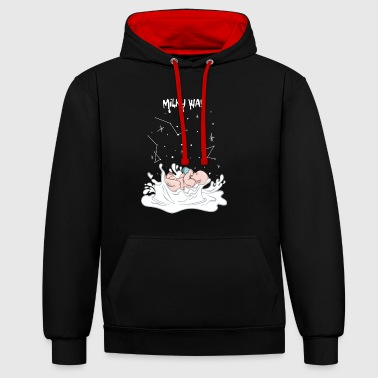Milky Way Baby on the Milky Way - Contrast Colour Hoodie