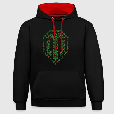 Tank World of Tanks - Pixel Logo - Contrast Colour Hoodie