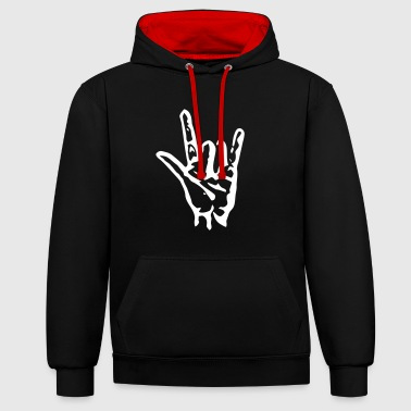 Cool - Contrast Colour Hoodie