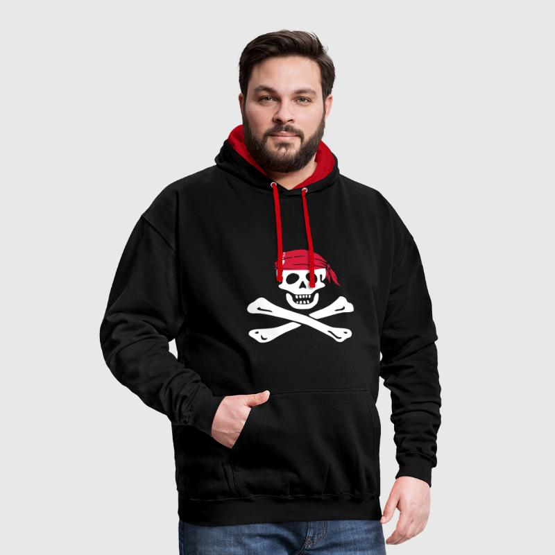 jolly roger pirate - Sweat-shirt contraste