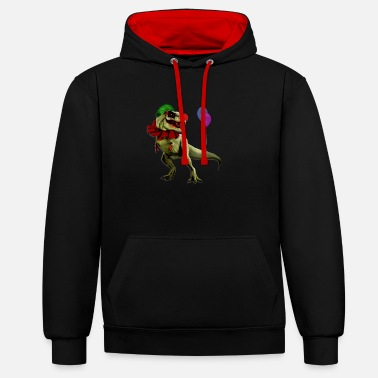 Scary Dino clown - Contrast Colour Hoodie