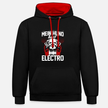 Edm EDM Electronic Dance Music Dog Dog Gift - Contrast Colour Hoodie