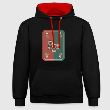 Poker Card Game Card Winner Chips Vegas Empire - Contrast Colour Hoodie