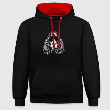 COCKER SPANIEL cool Wilsigns - Contrast Colour Hoodie