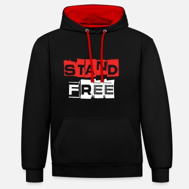 Free Aberdeen Stand Free - Unisex Contrast Hoodie