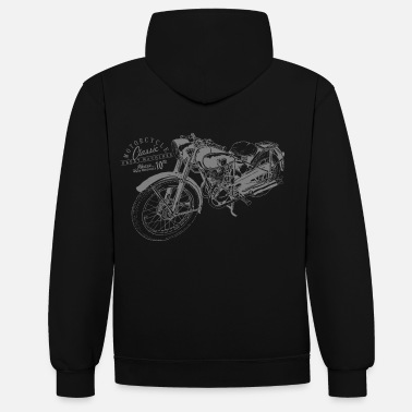 Bikes And Cars Collection bike - Bluza z kapturem z kontrastowymi elementami