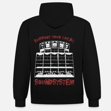 Sound System soutenir votre système de son local - Sweat-shirt contraste