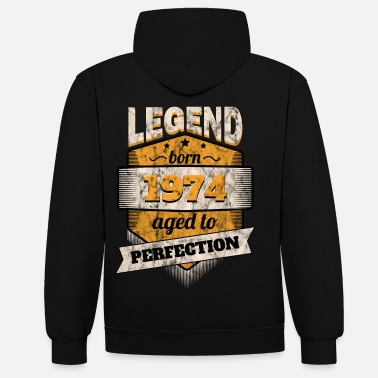 1974 1974 - Contrast Colour Hoodie