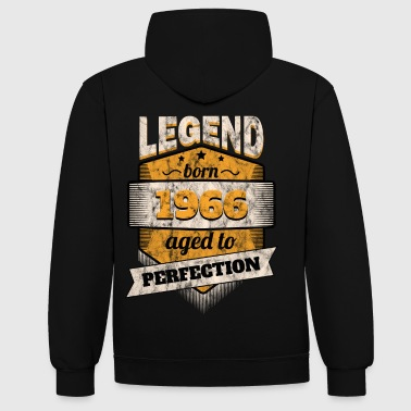 1966 - Contrast Colour Hoodie