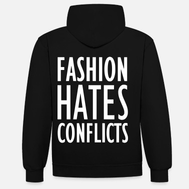 Conflict FASHION HATES CONFLICTS 2reborn - Contrast Colour Hoodie