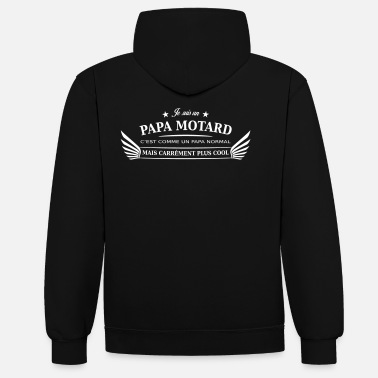 Motards papa motard - Sweat-shirt contraste