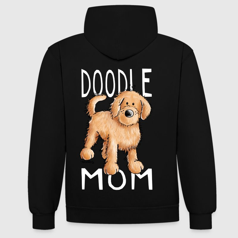 Doodle Mom - Goldendoodle - Gift - Contrast Colour Hoodie