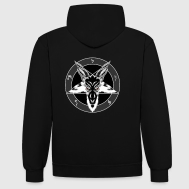 Baphomet Sigil Red Eyes - Sweat-shirt contraste