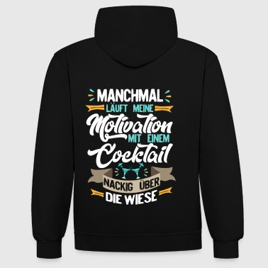 Motivation - Kontrast-Hoodie