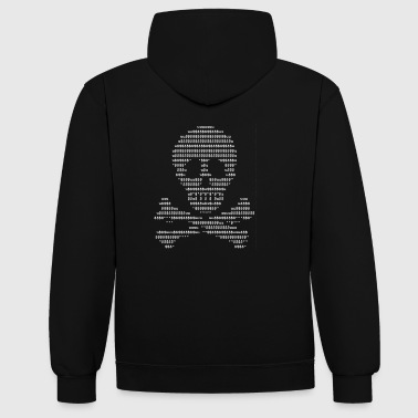Ascii-Skull white - Sweat-shirt contraste