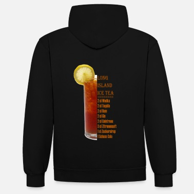 Long Island Long Island Ice Tea Cocktail Drinkingrediënten - Contrast hoodie