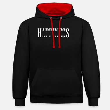 Happiness HAPPINESS - Unisex contrast hoodie