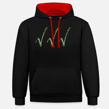 Clip Art clipped - Unisex Contrast Hoodie