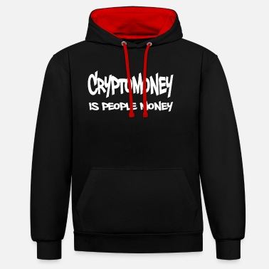 Cryptomoney is People Money in Weiss - Unisex Hoodie zweifarbig