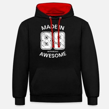 Year Of Birth 1989 year of birth - Unisex Contrast Hoodie