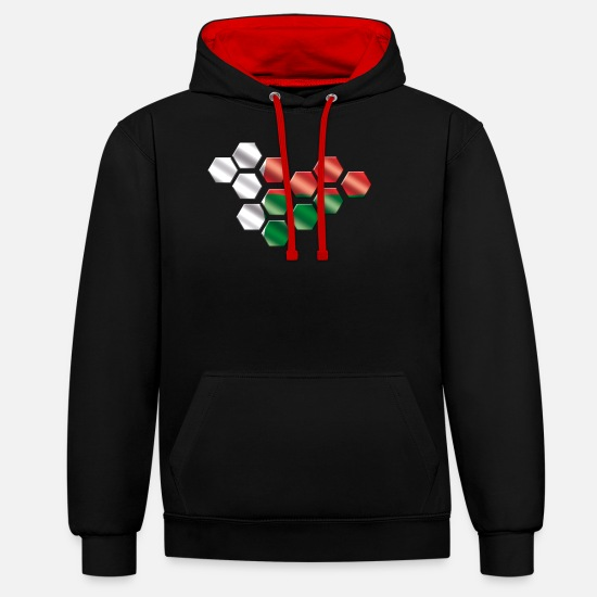 Gift Idea Hoodies & Sweatshirts - Madagascar - Unisex Contrast Hoodie black/red