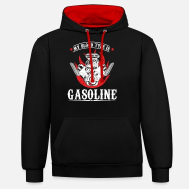 Trip My Blood Type is Gasoline - Unisex Contrast Hoodie