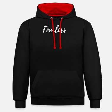 Writing Fearless Writing - Unisex contrast hoodie