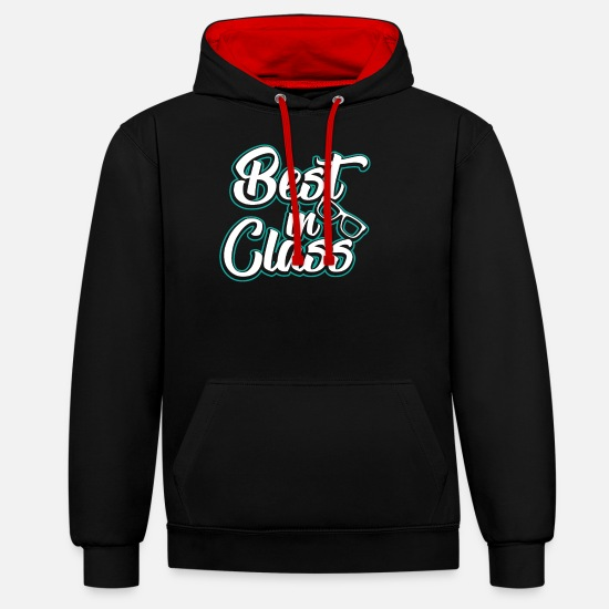 Note Hoodies & Sweatshirts - Best In Class - Unisex Contrast Hoodie black/red