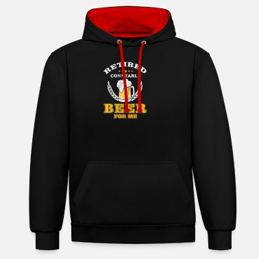Senior Retired Constable - Unisex contrast hoodie