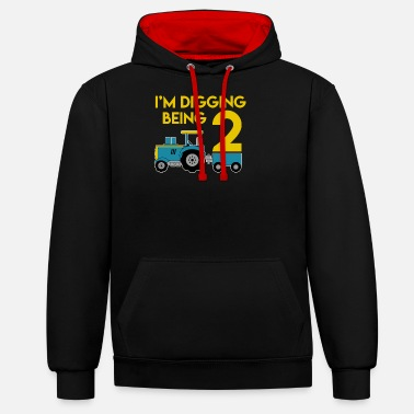 Old I am digging 2 - Unisex Contrast Hoodie