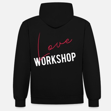 2reborn 2reborn LOVE workshop love relationship marriage - Unisex Contrast Hoodie