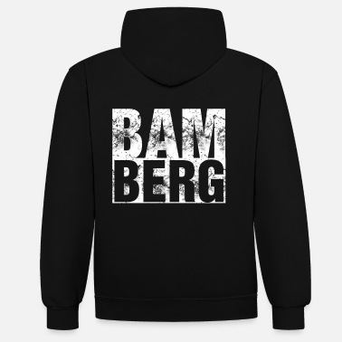 Upper Franconia Bamberg Bamberger city Upper Franconia gift beer - Unisex Contrast Hoodie