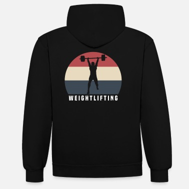 Lifting Weights Lifting weights - Unisex Contrast Hoodie