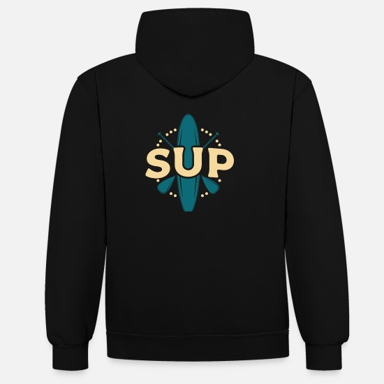Gift Idea Hoodies & Sweatshirts - Stand up paddle - Unisex Contrast Hoodie black/red