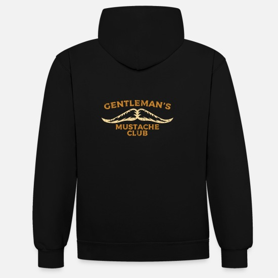 Gift Idea Hoodies & Sweatshirts - Beard and mustache club - Unisex Contrast Hoodie black/red