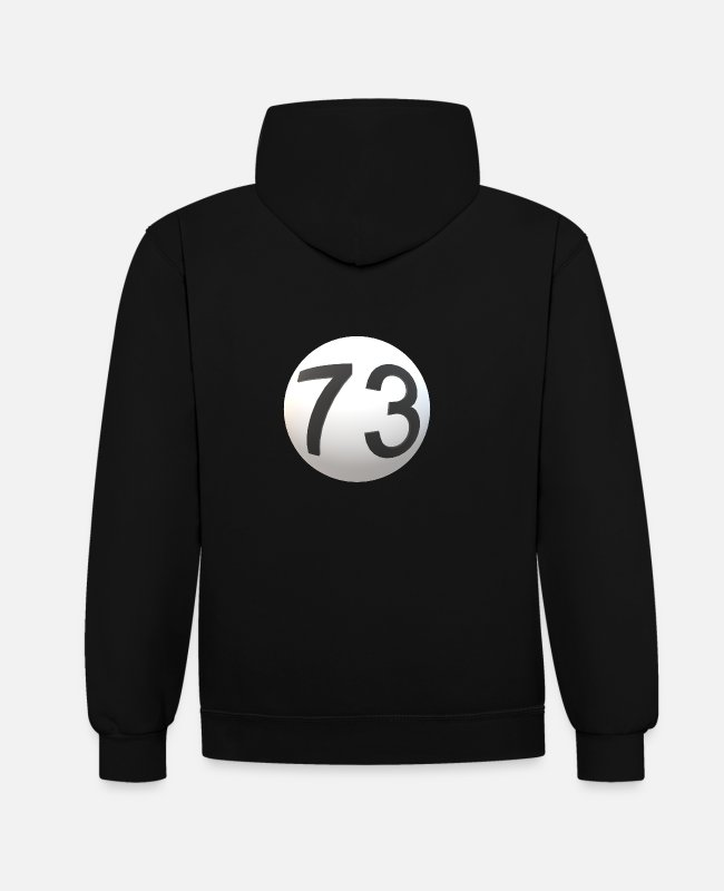 Ball Hoodies & Sweatshirts - Ball with 73 - Unisex Contrast Hoodie black/red