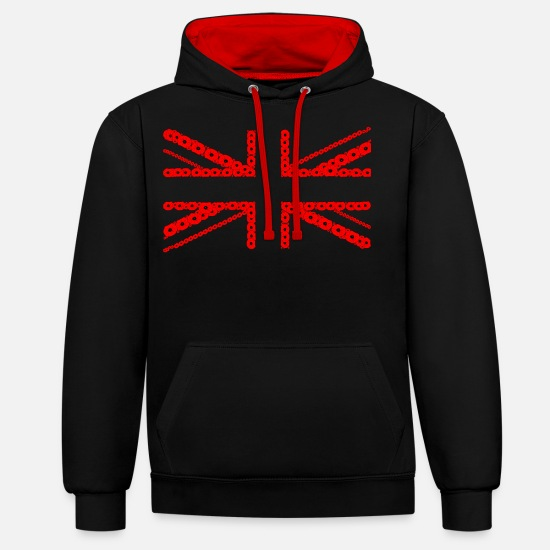 We Hoodies & Sweatshirts - Poppies 02 - Unisex Contrast Hoodie black/red