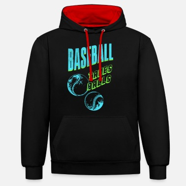 Baseball Players Baseball player baseball baseball player - Unisex Contrast Hoodie
