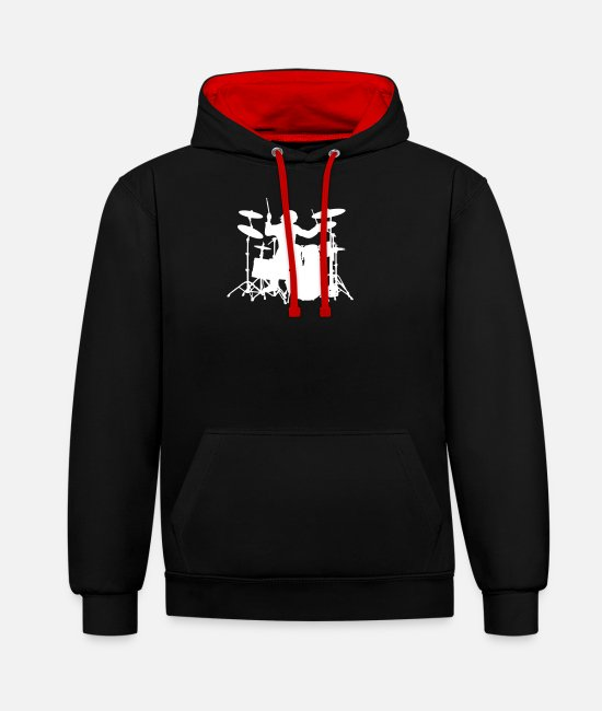 Pearl Hoodies & Sweatshirts - Drums - Unisex Contrast Hoodie black/red