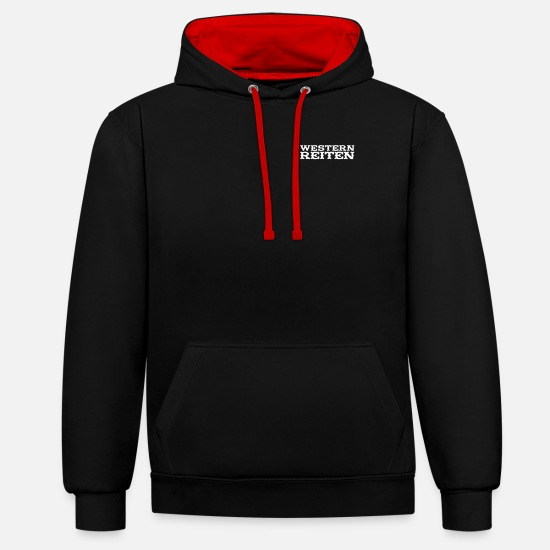 Western Hoodies & Sweatshirts - Western Riding - Unisex Contrast Hoodie black/red